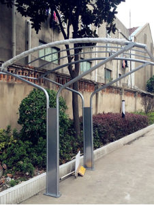 Hot DIP Galvanizing Bicycle Carport with Shelter pictures & photos