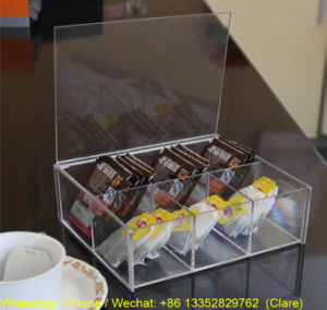Transparent Acrylic Tea Bag Storgae Box for Household pictures & photos