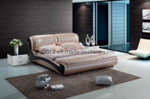 Modern Genuine Leather Bed (SBT-5847) pictures & photos