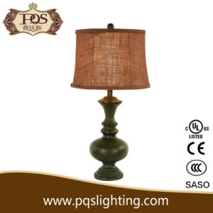 Green Polyresin Table Lamp for Decoration Lighitng (P0062TB)