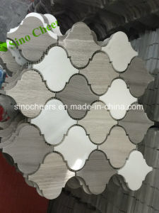 White Wood Lantern Marble Mosaic Decorative Wall Tiles Cheap Price pictures & photos
