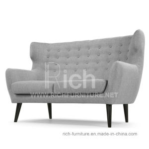 Modern Living Room Leisure Sofa with Wing Back (2 seater) pictures & photos