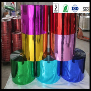Thermal Lamination Metallized Pet / PVC Film Metallic PVC Film pictures & photos
