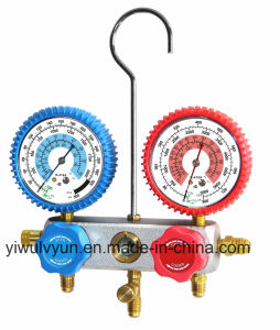 Al Manifold Gauge Set with Rubber Protector pictures & photos