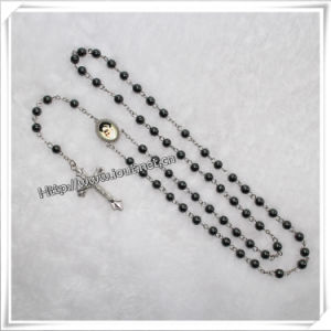 Fashion 6mm Mini Black Round Hematite Beads Chain Rosary (IO-cr031) pictures & photos