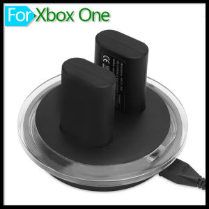 Battery Charger Dual Dock Charging Station Base with Two Rechargeable Batteries and USB Cable for xBox One Wireless Controller pictures & photos