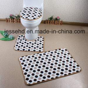 Wholesale Soft PV Fleece Foam 3piece Bath Mat Set pictures & photos