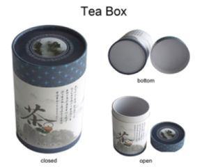 Handmade Feature Gift Cylinder Tea Paper Packing Box pictures & photos