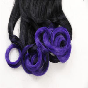 100% Synthetic Hair High Quality Wrap Around Curly Ponytail Hair Extensions pictures & photos