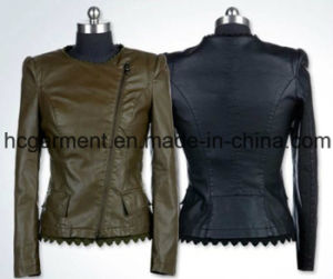 Outwear Punk PU Coat for Lady/Women, Leather Jacket pictures & photos