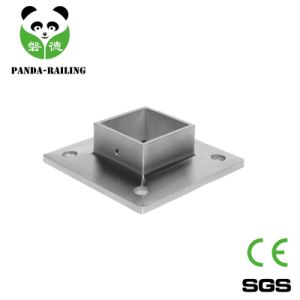 Stainless Steel Railing Handrail Square Tube Post Base Plate pictures & photos