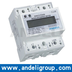 Single Phase Electronic DIN Rail Active Energy Meter (ADM100SC) pictures & photos