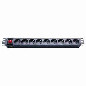 Euro Plug Socket 9-Way 16A PDU pictures & photos