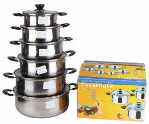 12PCS Set Stainless Steel Soup Pot pictures & photos
