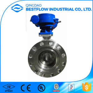 Cast Steel Butterfly Valves with Pneumatic Actuator pictures & photos
