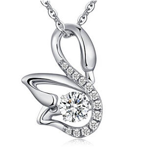 Fashion Swan 925 Silver Pendants Necklace with Dancing Diamond Jewelry pictures & photos