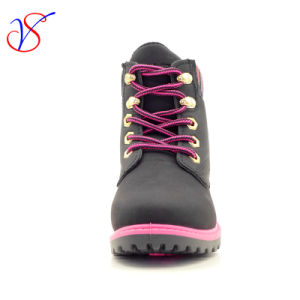 Family Fitted Kids Children Injection Safety Working Work Boots Shoes for Outdoor Job (SVWK-1609-051 BLACK) pictures & photos