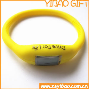 Cheap Custom Silicone Digital Wristband Watch for Gifts (YB-SW-64) pictures & photos