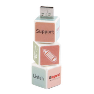 Plastic Magic Cube USB Flash Drive with Customized Logo pictures & photos