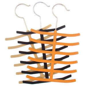 Wholesale Cheap Flocked Velvet Tie Hanger