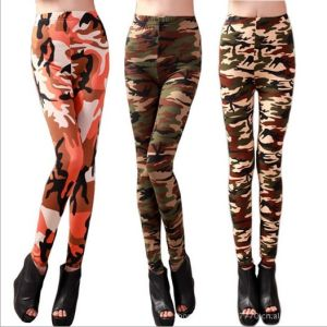 Military Camouflage Army Print Knit Lady′s Leggings Leggings-111