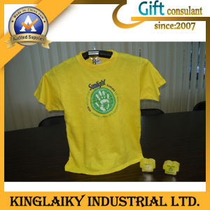 Casual Round Neck T-Shirt with 100% Cotton for Gift (KTS-003) pictures & photos