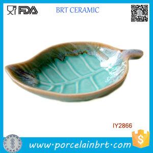Fallen Leaf Shape Soap Dish Ceramic Cheap Soap Holder pictures & photos