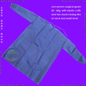 Disposable Medical Gown with Back-Closing Ties pictures & photos