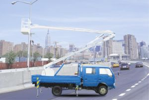 Hydraulic Lifting Aerial Platform Truck pictures & photos