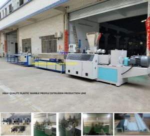 Advanced Technology Artificial Marble Profile Plastic Extruding Making Machine pictures & photos