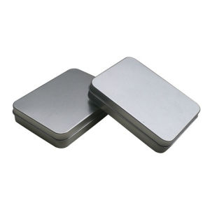 Health Care Products Metal Tin Boxes Silver Finishing pictures & photos
