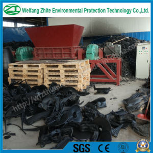 Double Shaft Shredder for Plastic/Tire/Foam/Kitchen Waste/Municipal Waste/Animal Bone/Scrap Metal pictures & photos