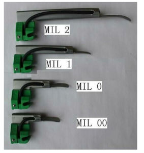 Fiber Optic Disposable Stainless Miller Laryngoscope Blades pictures & photos