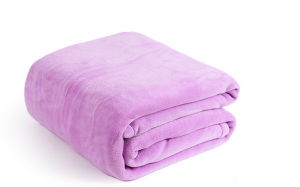 Super Soft Solid Flannel Blanket Fabric pictures & photos