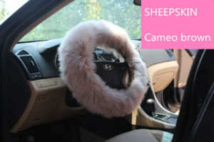 Universal Matching Sheepskin Car Steering Wheel Cover Long Wool pictures & photos