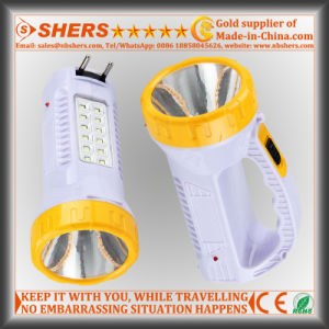 Rechargeable 1W LED Flashlight with 12 LED Table Light (SH-1959) pictures & photos