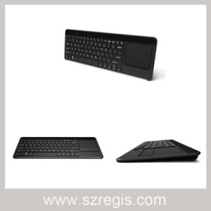 2.4G Wireless Metal Ultra-Thin Keyboard with Touch Mouse pictures & photos
