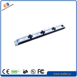 19 Inch 1u CAT6 Class E 1g UTP Patch Panel Without Bracket, Vertical Version Grey pictures & photos
