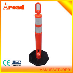 Top Sale Plastic Warning Post with Rubber Base pictures & photos