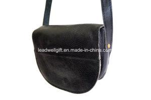 Crossbody Vintage Black Real Leather Bag Festival Purse Shoulder Bag pictures & photos