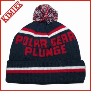 Unisex Customized Acrylic Jacquard Knitting Hat with POM POM pictures & photos