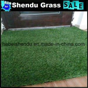 Synthetic Turf Grass 20mm Green Straight+Yellow Curl Yarn pictures & photos