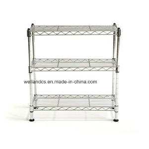 3 Tiers Chrome Wire Shelf Rack DIY Bathroom Storage Organization pictures & photos