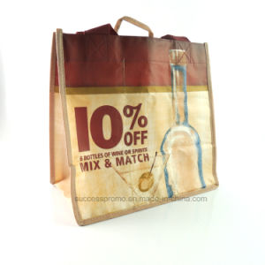 Wholesale Promotional Custom Cheap Non Woven 6 Bottle Tote Carring Wine Bag pictures & photos