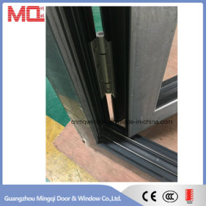 Heat Insulated Aluminum Door Double Glazed Lowe Glass Folding Door Style pictures & photos