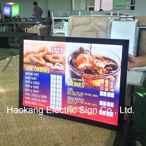 Aluminum Magnetic LED Backlit Poster Frame Light Box Menu for Restaurant Fast Food Advertising Display Sign pictures & photos