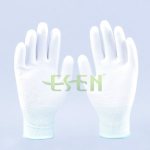 13G Super-Thin Knitted Working Glove with PU Coated Palm/ En388: 4343 pictures & photos