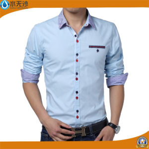 OEM 2017 Spring Men Oxford Shirt Fashion Design Shirt