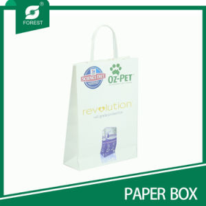 Recycled Custom Made White Paper Gift Bags pictures & photos