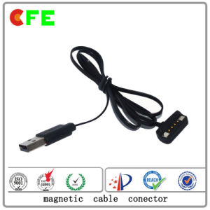 4pin Pogo Pin Magnet Connector with USB Cable Factory pictures & photos